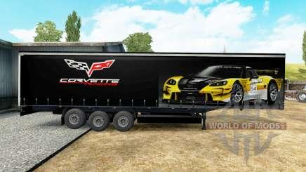 La peau sur le Corvette Racing trailer pour Euro Truck Simulator 2