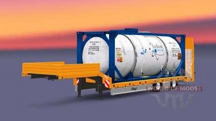 Fliegl low sweep mit der Ware für Euro Truck Simulator 2
