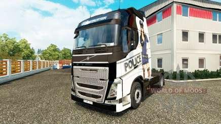 Sexy Polizei-skin für den Volvo truck für Euro Truck Simulator 2