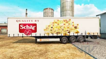 La peau Schar sur un rideau semi-remorque pour Euro Truck Simulator 2
