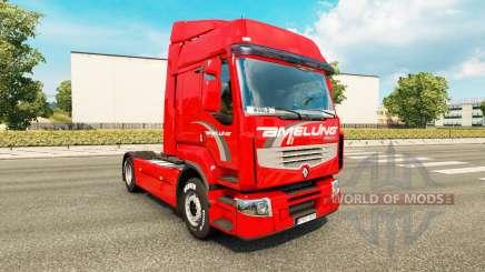 Amelung Haut für Renault Premium LKW für Euro Truck Simulator 2