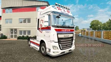 Haut Chr.Lund auf Zugmaschine DAF für Euro Truck Simulator 2