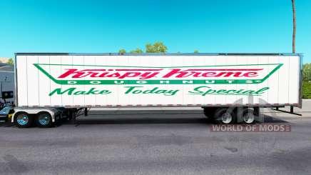 Haut knusprig-cremigen auf den trailer für American Truck Simulator