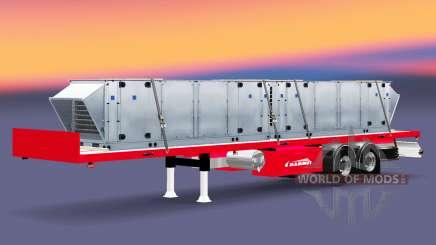 La semi-remorque plate-forme Mammut avec des charges différentes. pour Euro Truck Simulator 2