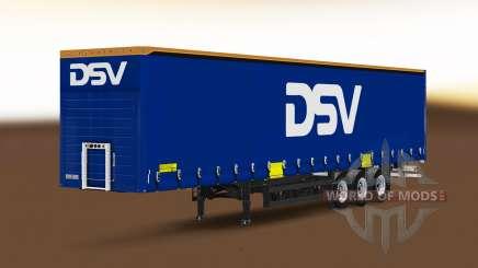 Vorhang semi-trailer Schmitz Cargobull DSV für Euro Truck Simulator 2