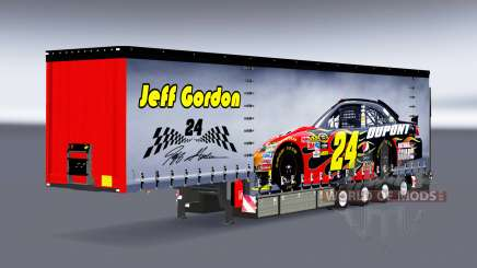Vorhang Auflieger Krone NASCAR für Euro Truck Simulator 2