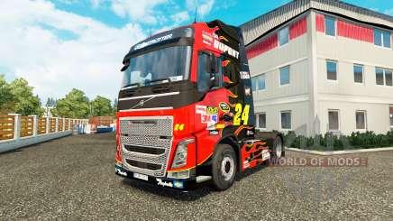 Haut NASCAR für LKW Traktor Volvo für Euro Truck Simulator 2