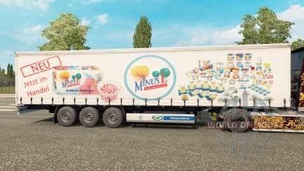 La peau MinusL sur un rideau semi-remorque pour Euro Truck Simulator 2