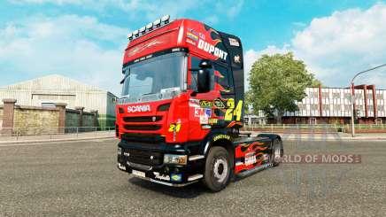 NASCAR skin für Scania-LKW für Euro Truck Simulator 2