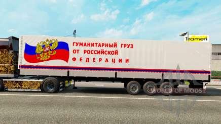Un semi-remorque transportant du fret humanitaire pour Euro Truck Simulator 2