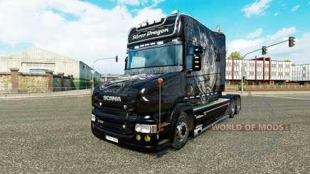 Silver Dragon skin für den Scania T truck für Euro Truck Simulator 2