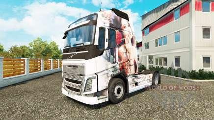 Haut-Künstlerische Mädchen bei Volvo trucks für Euro Truck Simulator 2