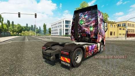 Princess Dragon skin für den Volvo truck für Euro Truck Simulator 2