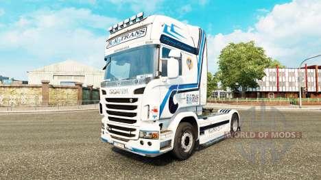 Hovotrans skin für die Scania LKW für Euro Truck Simulator 2