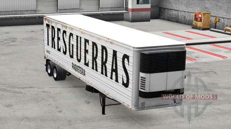 La peau Tres guerras n sur la remorque pour American Truck Simulator