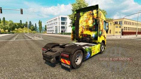 De Fille de fleur de la peau pour Volvo camion pour Euro Truck Simulator 2