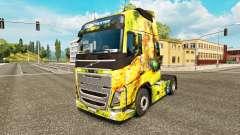 Blumen-Mädchen-skin für Volvo-LKW