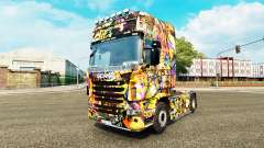 Graffiti-skin für den Scania truck