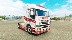 La peau de Luis Lopez sur le camion Iveco