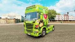 Haut Kermit der Frosch auf Zugmaschine Scania