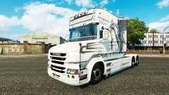 Dragon blanc de la peau pour camion Scania T