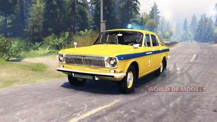 GAZ-24 Volga de la Police pour Spin Tires