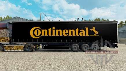 La peau Contiential sur la remorque pour Euro Truck Simulator 2