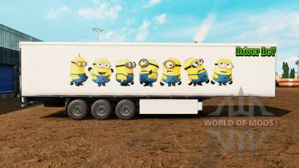 La peau Sbires sur la remorque pour Euro Truck Simulator 2