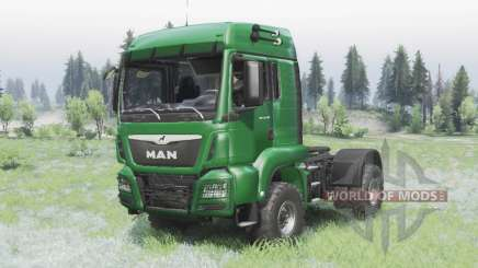 MAN TGS 18.440 4x4 green v1.3 pour Spin Tires