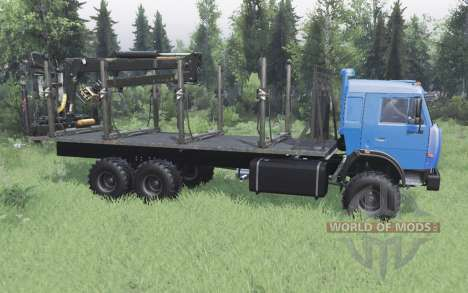 KamAZ 43118 long de la base de v1.1 pour Spin Tires