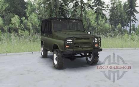 UAZ 469 kaki pour Spin Tires