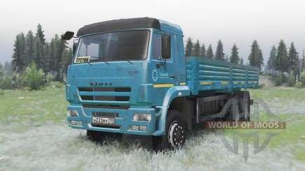 KamAZ 65117 bleu foncé pour Spin Tires