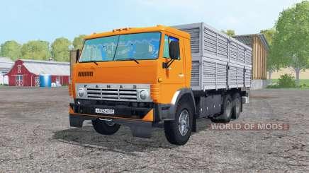Le 6x6 KamAZ 53212 avec remorque pour Farming Simulator 2015