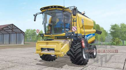New Holland TC4.90 with header pour Farming Simulator 2017