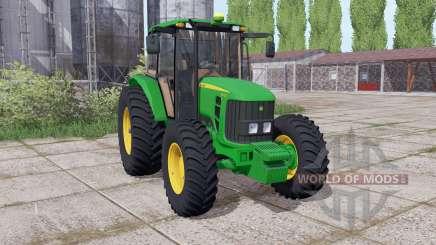 John Deere 6110J dual rear für Farming Simulator 2017