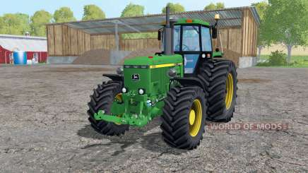 John Deere 4455 twin wheels pour Farming Simulator 2015