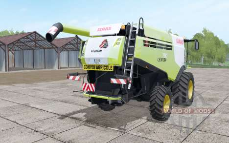 Claas Lexion 780 yellow-green with headers pour Farming Simulator 2017