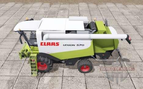 Claas Lexion 570 with headers pour Farming Simulator 2017