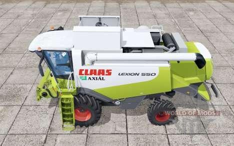 Claas Lexion 550 interactive control pour Farming Simulator 2017