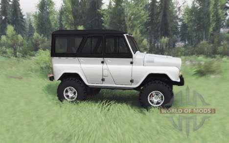 UAZ 469 blanc v1.1 pour Spin Tires