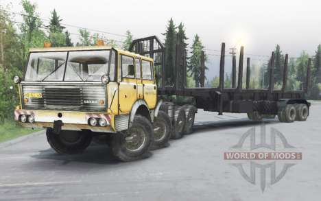 Tatra T813 TP 8x8 1967 hiver v1.4.1 pour Spin Tires