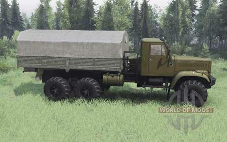 KrAZ 255B d'olive v1.1 pour Spin Tires