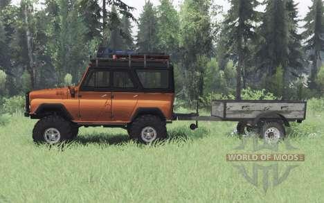 UAZ 469 orange v1.1 pour Spin Tires