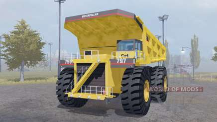 Caterpillar 797 pour Farming Simulator 2013