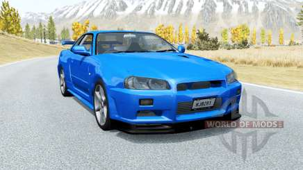 Nissan Skyline GT-R V-spec II (BNR34) 2000 für BeamNG Drive