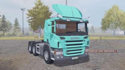Scania P420 bright turquoise v2.2 pour Farming Simulator 2013