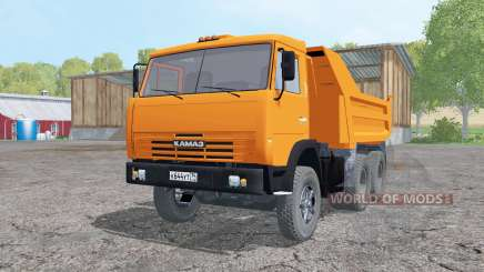 KamAZ-55111 2002 helles orange für Farming Simulator 2015