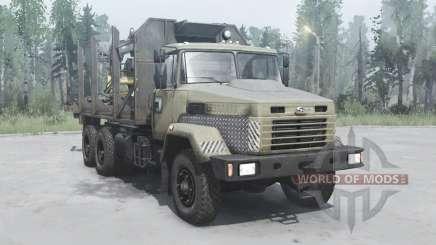 KrAZ 6322 dunkel-Grau-gelb für MudRunner
