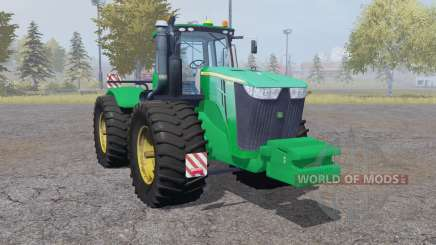 John Deere 9510R double wheels pour Farming Simulator 2013