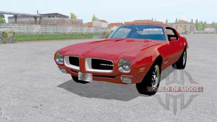 Pontiac Firebird (228-87) 1970 red pour Farming Simulator 2017